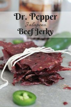 My Dr. Pepper Jalapeno Beef Jerky is legendary! This post includes steps on how to make beef jerky and the best beef jerky recipe ever. We are going to be talking cuts of meat, slicing tips, marinating basics, and dehydrating vs. Jalapeno Beef Jerky Recipe, Deer Jerky Recipe, Venison Recipes, Dr Pepper Jerky Recipe, Smoker Recipes, Dehydrator Recipes Jerky, Sweet And Spicy Beef Jerky Recipe, Sausage Jerky Recipe, Tender Beef Jerky Recipe
