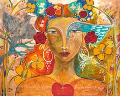 Painting - Heart Of The Visionary by Shiloh Sophia McCloud