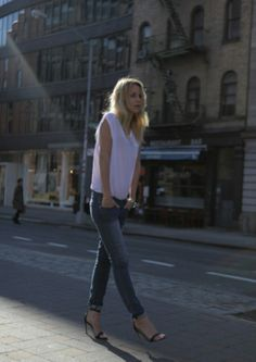 I am constantly reminded of how much I just love simple dressing. unfussy. very Emmanule Alt