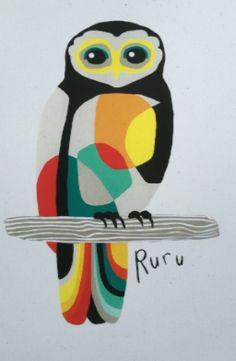Ruru Print by Eden Ripley