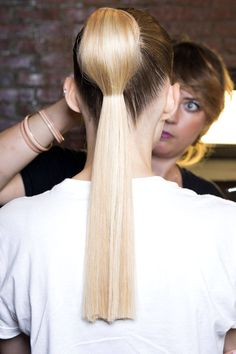 Want to be slightly more modern and playful with your ponytail? We love this look! www.justglamhair.com