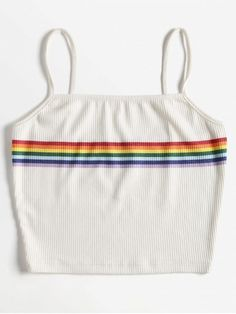 Standard Striped Spaghetti Short Casual Striped Knitted Cami Top - Standard Striped Spaghetti Short Casual Striped Knitted Cami Top Source by - Cute Comfy Outfits, Cute Girl Outfits, Teen Fashion Outfits, Swag Outfits, Outfits For Teens, Trendy Outfits, Cool Outfits, Fashion Wear, Cute Tank Tops