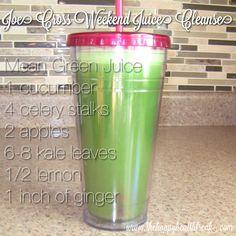 Joe Cross Weekend Cleanse ~ Mean Green Juice Cleanse, Juicing, Juice, Juicer www.thehappyhealthfreak.com