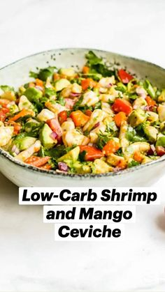 Cold Appetizers, Seafood Appetizers, Shrimp Recipes, Mexican Food Recipes, Ethnic Recipes, Lchf, Banting, Ceviche, Low Calorie Recipes