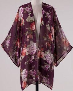 Sheer Style Floral Kimono $44.99