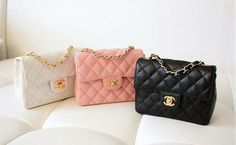 Image via We Heart It https://weheartit.com/entry/143553475/via/27669956 #bags #beige #black #chanel #luxury #pastel #pink #purse