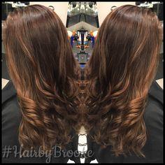 #hairbybrooke #balayage #chocolatebrown #longlayers #wellacolortouch