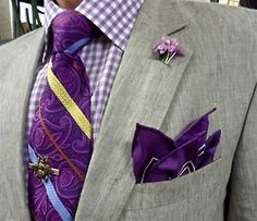 Strellson linen suit, Hudson Room shirt, Dion Collection tie - so purrr-ty!