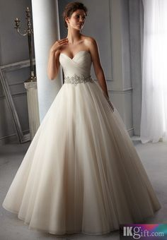 I like this - Intricately beaded waistband on tulle Organza Wedding Dress. Do you think I should buy it?
