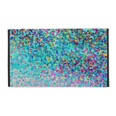 Colorful Blue Multicolored Abstract Art Pattern iPad Folio Covers- My original abstract art, digital painting & design. A beautiful, colorful ipad case w/a turquoise blue background. http://www.zazzle.com/colorful_blue_multicolored_abstract_art_pattern_case-222473391363236088?rf=238439466617123422 #ipadcase #ipadcases #blue #colorful #abstract #abstractpainting #multicolored #zazzle #ipadcovers #folios