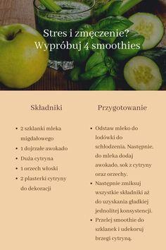 Stres i zmęczenie? Wypróbuj 4 smoothies — Krok do Zdrowia Smoothies, Smoothie Drinks, Cantaloupe, Fruit, Food, Moda Masculina, Smoothie, Eten, Meals