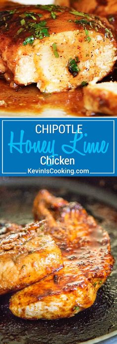 This easy Chipotle Honey Lime Chicken is a smash hit every time. Whether grilled or sautéed in a pan, the citrus marinade with warm spices, fresh herbs and honey is packed with flavor. Perfect as a main course, sliced over salads, in tacos or in a sandwich, this recipe is so versatile! #easydinner  #honeychicken