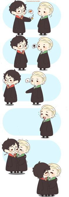 Cute #Drarry Credits to cremebunny on Deviantart