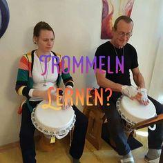 """Du möchtest wieder Ruhe im Kopf? Raus aus dem """"Hamsterrad"""" und einfach loslassen? Dann probier es einfach aus! 😉 Workshop, Drums, Music Instruments, Stress Relief, Community, Drum, Atelier, Work Shop Garage, Percussion"""
