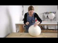 Vase Process--Elyse Graham In this Clay Clips series, I'll explain how to throw and texture a storage jar with a handy homemade tool that you can make with just a couple of things you . Cement Art, Cement Crafts, Beton Design, Concrete Design, Garden Spheres, Plaster Of Paris, Concrete Sculpture, Papercrete, Plaster Art