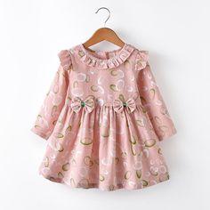 Baby Girl Dresses Diy, Baby Girl Frocks, Baby Girl Dress Patterns, Frocks For Girls, Little Girl Dresses, Kids Frocks Design, Baby Frocks Designs, Baby Girl Frock Design, Kids Dress Wear