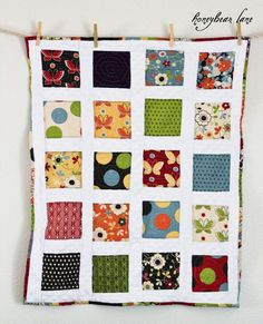 Charm pack quilt with minky sashing
