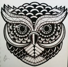 Zentangle Owl by lukemac.deviantart.com on @DeviantArt
