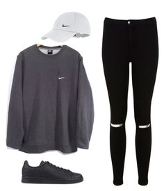 """44"" by ddaisiee on Polyvore featuring NIKE, Miss Selfridge and adidas Originals"
