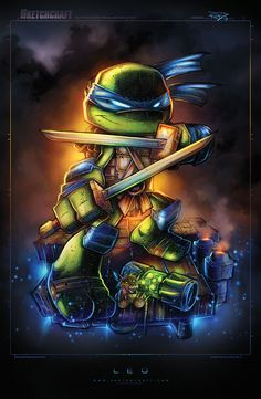 pixalry:  Teenage Mutant Ninja Turtles! - Created by Rob Duenas You can receive these prints by backing Rob on his Kickstarter! You can also follow him on Tumblr | Twitter | Website