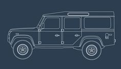 65 years of Land Rover. Supporting illustrations.