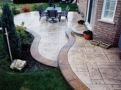 stamped concrete decorative concrete toronto ontario  canada contemporary-patio