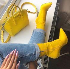 Because every girl needs yellow booties and matching bag.