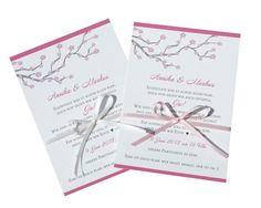 """Einladung Hochzeit """"Kirschblüte"""" von moments-events auf DaWanda.com"""