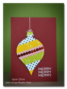 Washi tape ornament card