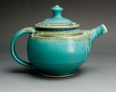 Hey, I found this really awesome Etsy listing at http://www.etsy.com/listing/160700088/handmade-teapot-porcelain-turquoise-tea
