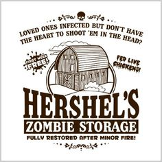 Hershel's Zombie Storage T-Shirt - Zombies with no torso are half price! Professionally screen printed on a high quality, pre-shrunk cotton Gildan tee. Silhouette Cameo Projects, Silhouette Design, Scary Movies, Comedy Movies, Cricut Fonts, Halloween Home Decor, Vintage Horror, Vinyl Crafts, Vintage Movies