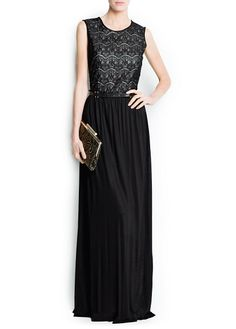MANGO - CLOTHING - Dresses - Maxis - Lace combi gown