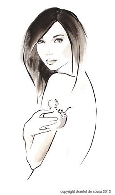 Ink illustration, Chantel de Sousa