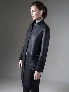 Пальто женское демисезонное цвет черный, Пальтовая ткань, артикул 1017460p10099