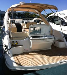 Beneteau Gran Turismo 35: The hatch in the stern platform in the foreground is intended for a stern anchor, but it's also great for dock lines or watersports equipment.