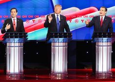 Ted Cruz and Marco Rubio have unleashed a barrage of attacks on front-runner Donald Trump in the last Republican debate before Super