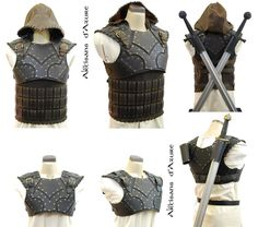 The top half armor could work well with a plain shirt under.  The banded shirt can work as well too