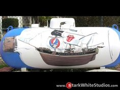 This one sure doesn't, turning your boring propane tank into a ship in a bottle? Outdoor Projects, Outdoor Ideas, Outdoor Decor, Propane Tank Art, Led Zeppelin Songs, Iron Wire, Beach Cottages, Landscaping Ideas, Cottage Style
