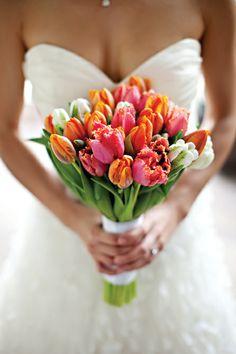 Bouquet Bridal Flowers Tulip Wedding Bride Bouquets Fl Colors