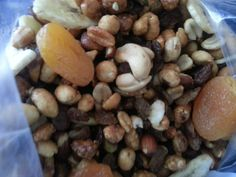 My Home Made Trail Mix - Almonds, Cashews, Peanuts,  Pistachios, Peacans, Dried Apricots, Dried Bananas, Dried Cranberries and Raisins. -$20 Dried Apricots, Dried Cranberries, Pistachios, Almonds, Dried Bananas, Raisin, Peanuts, Trail, Clean Eating