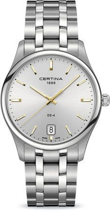 Certina Watch DS-4 Big Size Quartz #bezel-fixed #bracelet-strap-steel #brand-certina #case-material-steel #case-width-40mm #classic #date-yes #delivery-timescale-7-10-days #dial-colour-silver #gender-mens #movement-quartz-battery #official-stockist-for-certina-watches #packaging-certina-watch-packaging #style-dress #subcat-ds-4 #supplier-model-no-c022-610-11-031-01 #warranty-certina-official-2-year-guarantee #water-resistant-100m