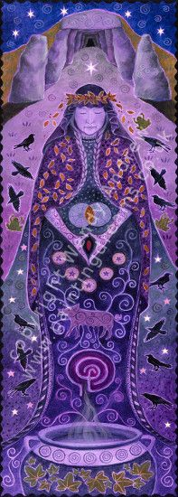 Grandmother Crone Goddess Banner by Wendy Andrew --- http://www.paintingdreams.co.uk/image.php?name=grandmother-crone-goddess&gallery=folk_art_goddess