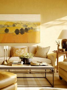 Living Room Decorating Ideas #yellow #roombyroom
