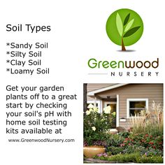 http://www.greenwoodnursery.com/  -  Learn the 4 basic soil types in the United States. Once you are able to identify your soil type, you will be able to make better decisions on gardening. Whether your soil is sandy soil, clay soil, silty soil or loam soil, you will know what types of amendments will make better garden soil such as humus soil (organic matter), top soil, or peat moss. Grow healthier perennial flowers or vegetable garden.