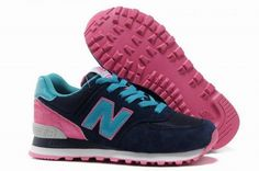 Joes New Balance 574 WL574BFP Blue Pink Black Candy fashionista Womens Shoes