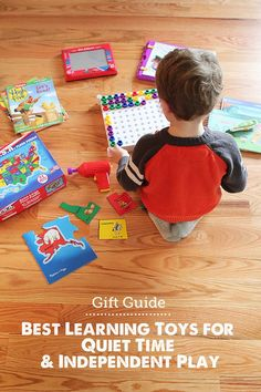 Gift Guide: Best Learning Toys for Quiet Time - LOVE this list for getting stuff done or one-on-one time with siblings! toys MPMK Gift Guide: Top Learning Toys for Quiet Time & Independent Play Quiet Time Activities, Craft Activities, Toddler Activities, Indoor Activities, Toddler Fun, Toddler Stuff, Learning Toys, Jouer, Kids Education
