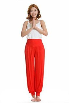 genuine 95% Modal Sports Clothes Soft Women's Yoga Wear bloomers pants (Black, M)