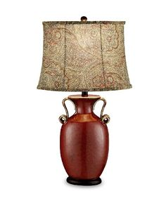 Red Stone Table Lamp, would look great in the den