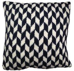 ahintofneon - Pillow brick blue