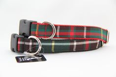 Newfoundland Tartan Dog Collar by CollarsBySerena on Etsy Tartan Fabric, Newfoundland And Labrador, Tartan Pattern, Four Legged, Collars, Red And White, Dogs, Etsy, Accessories
